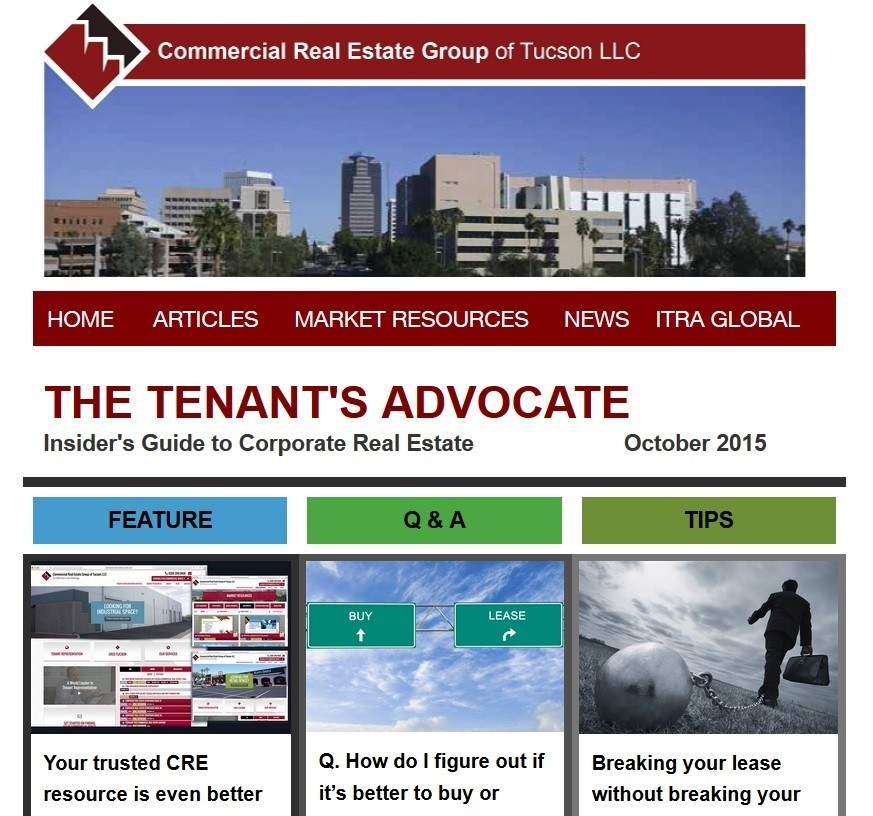 The Tenant's Advocate e-newsletter, October 2015